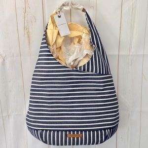 Lucky Brand Mia Woven Striped Hobo Bag